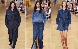 Tendências - vestido Jeans